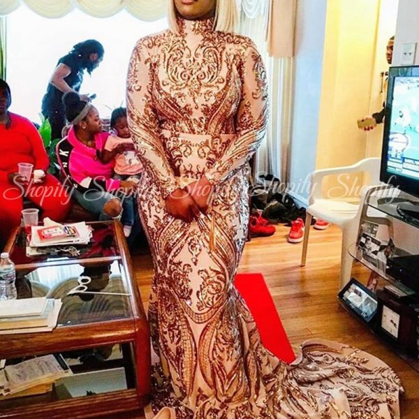 Long Prom Dresses African Black Gowns