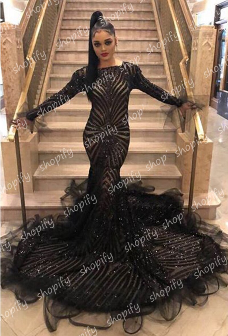 African Mermaid Prom Party Dress
