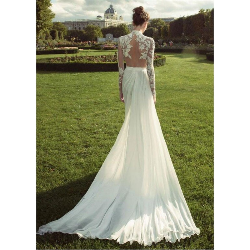 Boho Wedding Dresses Chiffon Bride Dress