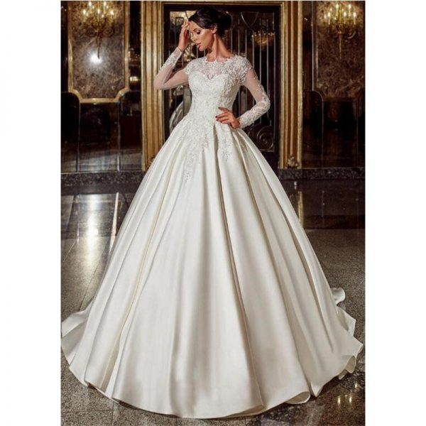 Elegant Ball Gown Lace Wedding Dresses