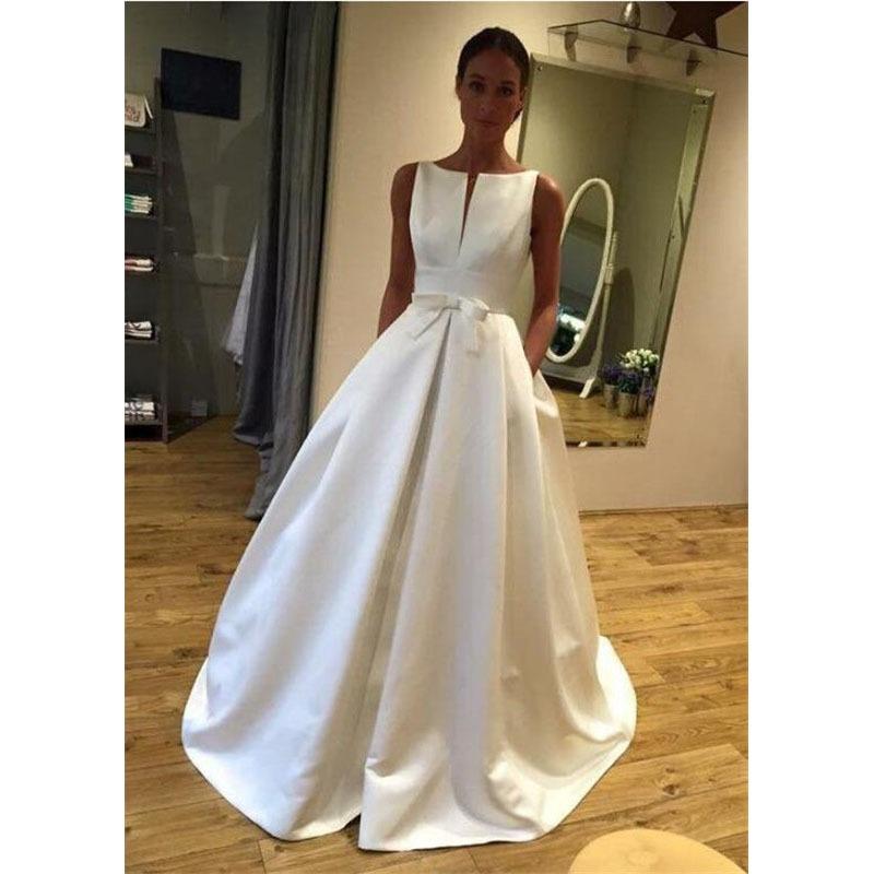 Elegant Ball Gown Satin Bridal Dresses