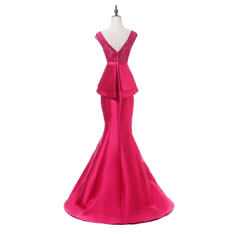 Elegant Party Dress Prom Dresses Lace Long Gown
