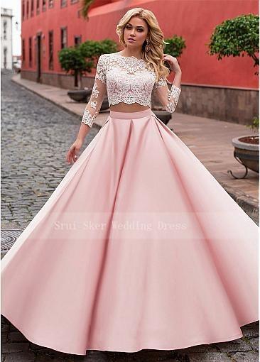 Elegant Two-piece Prom Dresses