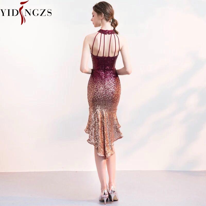 Halter Elegant Sequin Prom Dress
