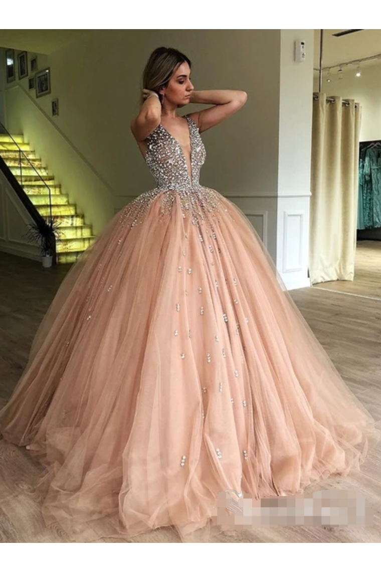 Click to enlarge Illusion Ball Gown Prom Dress