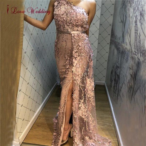 Luxury Evening Dress 3D Lace Flowers