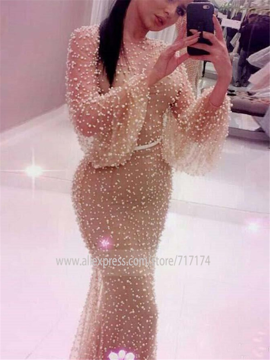 Click to enlarge Luxury Pearls Prom Dress Evening Dresses