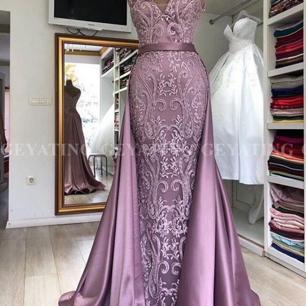 Sexy Spaghetti Mermaid Evening Dress