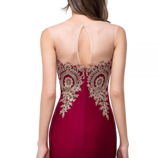 Sexy Appliques Mermaid Lace Long Prom Dresses