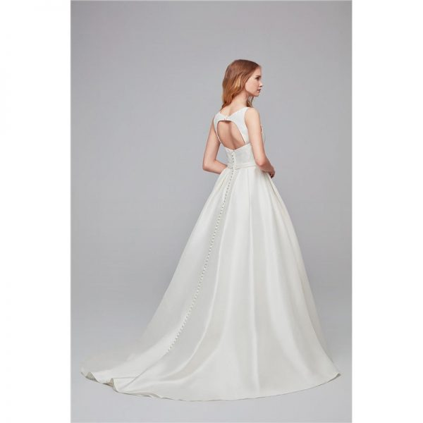 Simple Ball Gown Satin Bridal Gowns