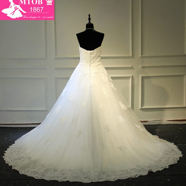 Click to enlarge Strapless Lace Vintage Wedding Dress Bridal Gowns