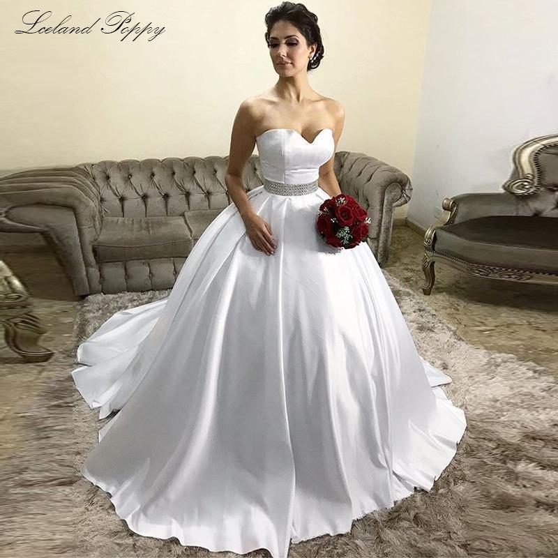 Strapless Satin Wedding Dresses