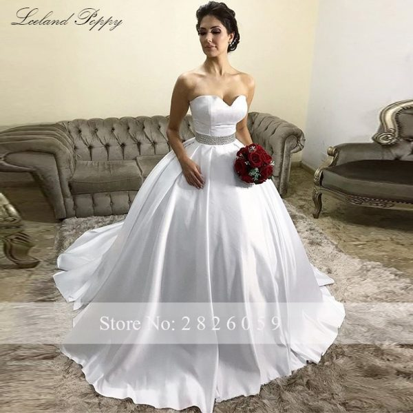 Strapless Satin Wedding Dresses