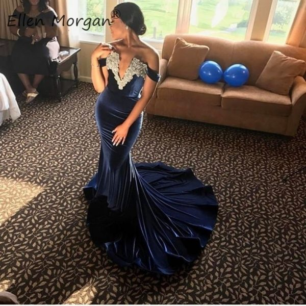 Velvet Mermaid Prom Dresses