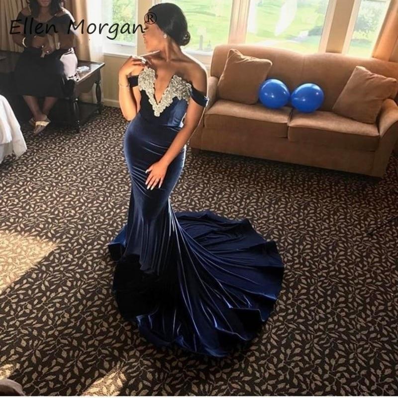 Velvet Mermaid Prom Dresses