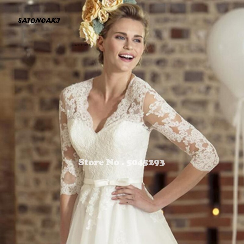 Vintage Curto Dress Lace Wedding Gown