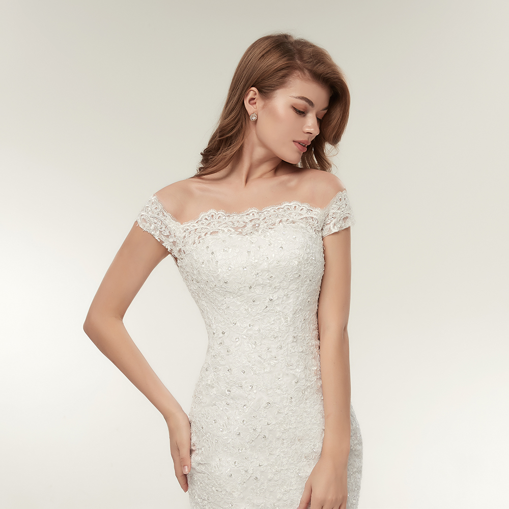Vintage Lace Mermaid Wedding Dress Bridal Gowns