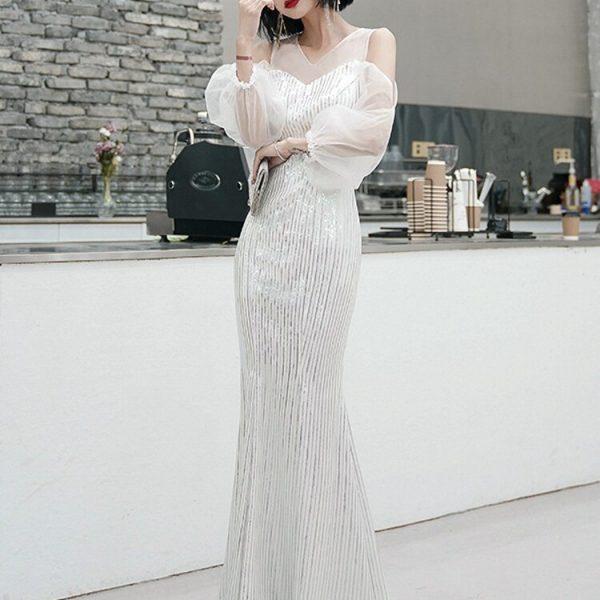 White Evening Dress Party Dress