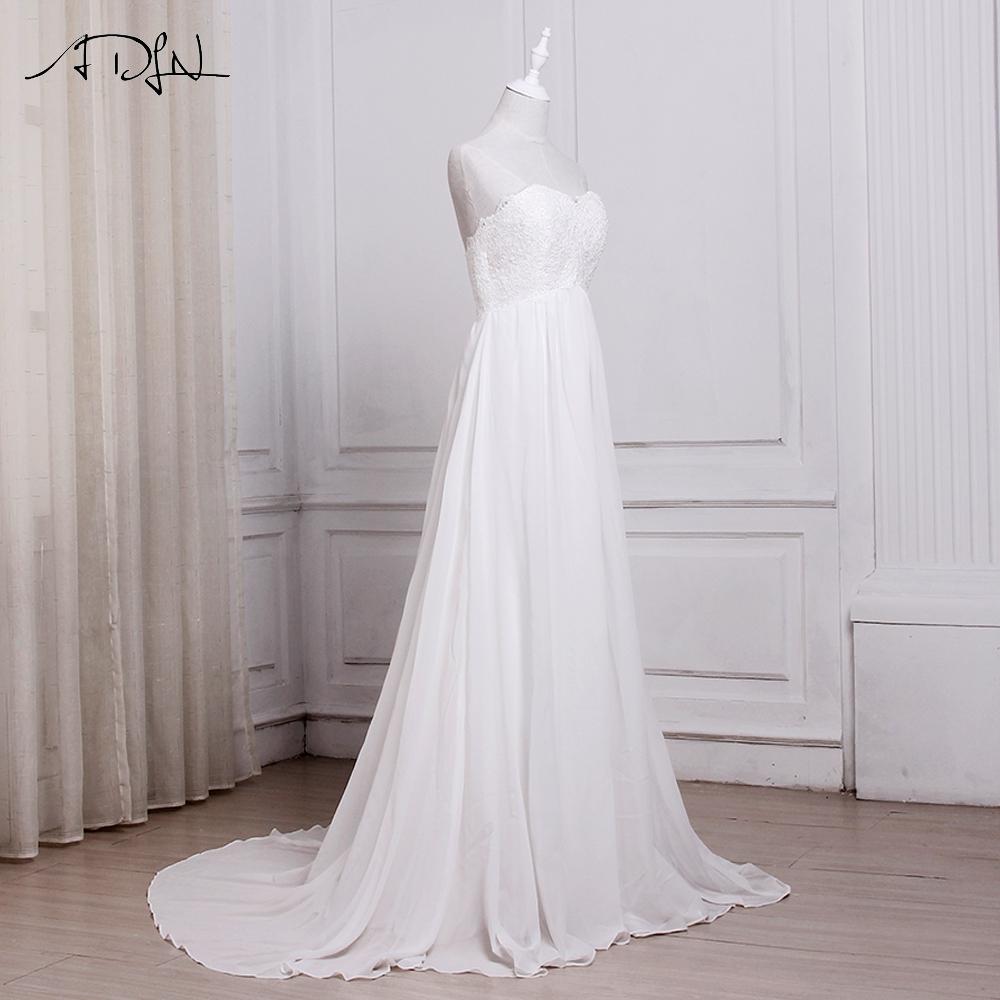 Chiffon Beach Wedding Dresses Bridal Gowns
