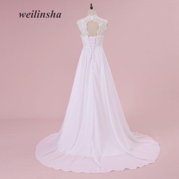Chiffon Pregnant Brides Dresses Train Wedding Gowns