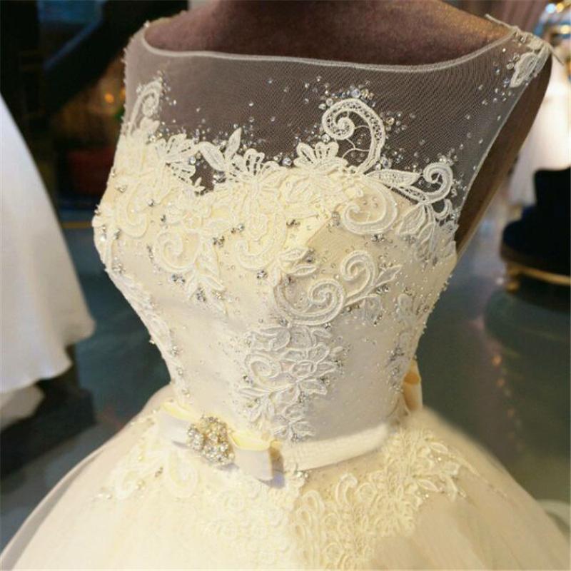Gown Wedding Dress Chapel Train Beading Bridal Gown