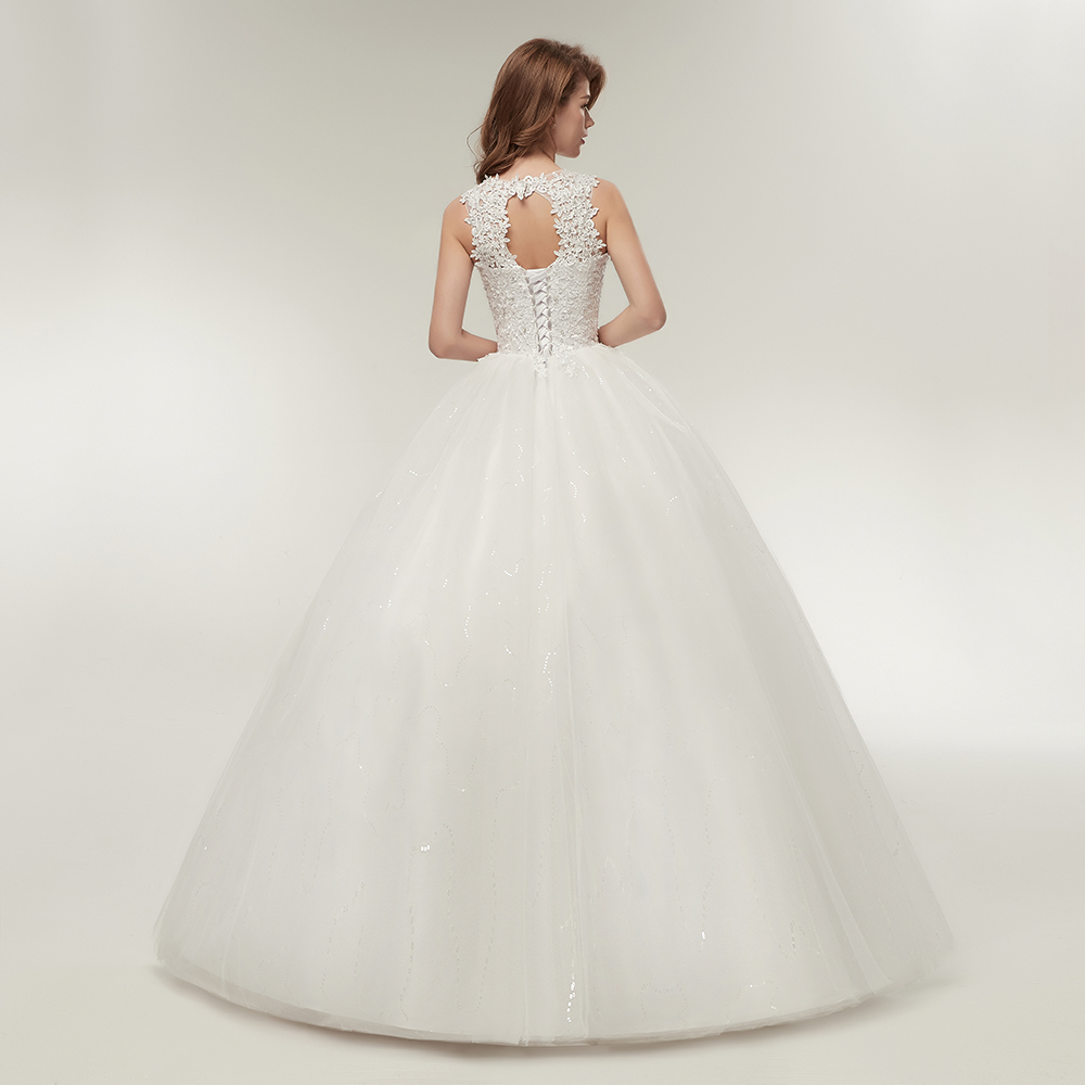 Korean Lace Up Ball Gown Quality Wedding Dresses