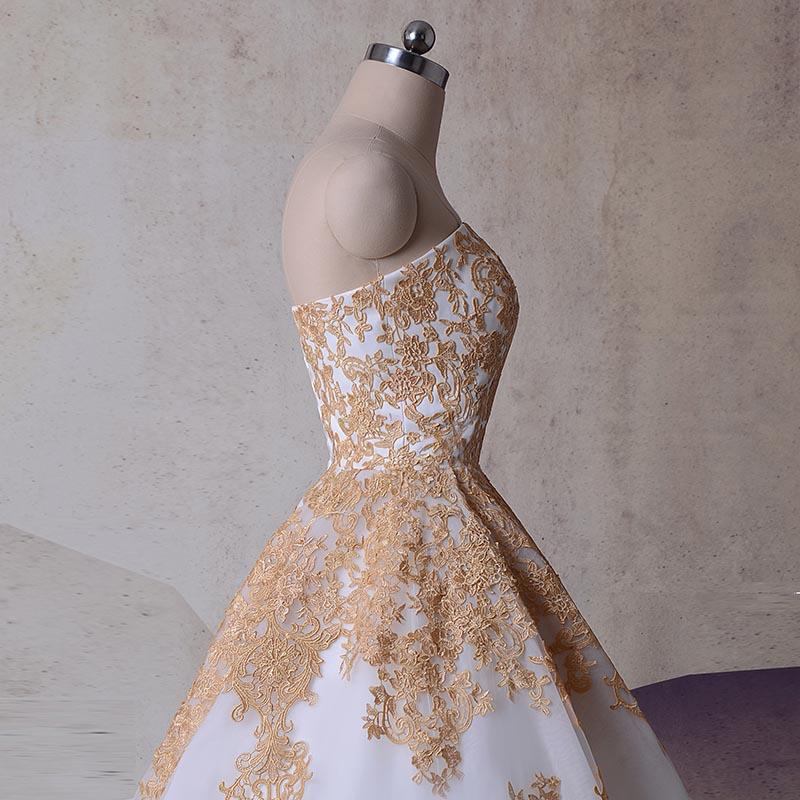 Lace Appliques Wedding Princess Ball Gowns Vestido