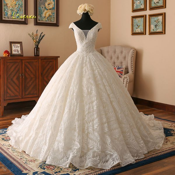 Lace Ball Gowns Wedding Dresses Vintage Bridal Gown