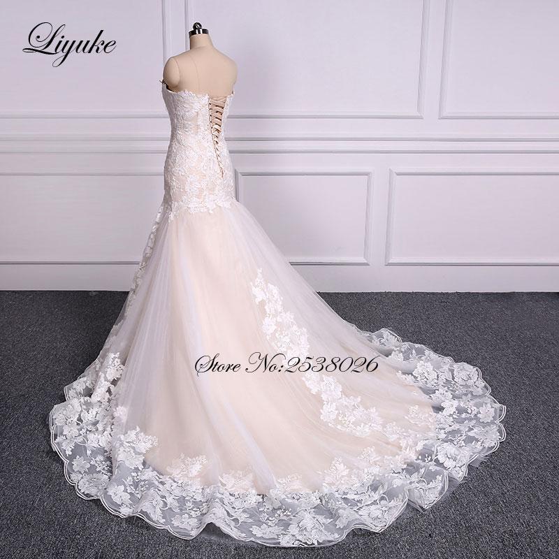 Lace Mermaid Wedding Dresses Trumpet Bride Dress