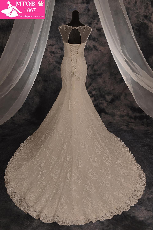 Lace Sexy Mermaid Wedding Dresses Shinny Crystals