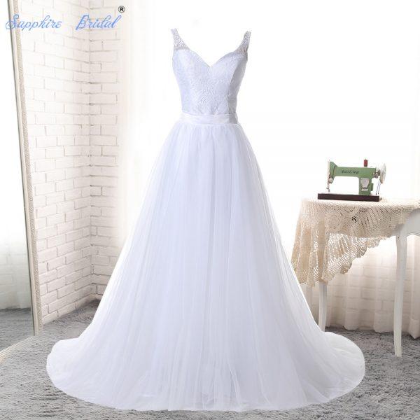 Lace Wedding Dresses 2 Pieces Beach Wedding Dress