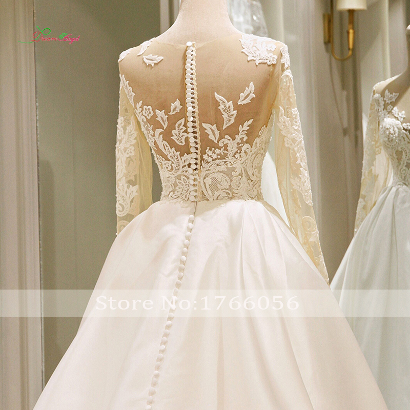 Long Sleeve Vintage Wedding Dresses Lace Bride Gowns
