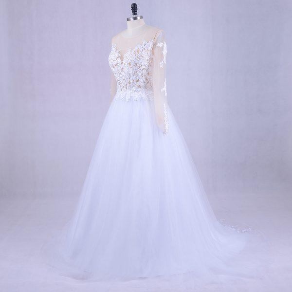 Long Sleeve Wedding Dress Tulle Gown Vestido