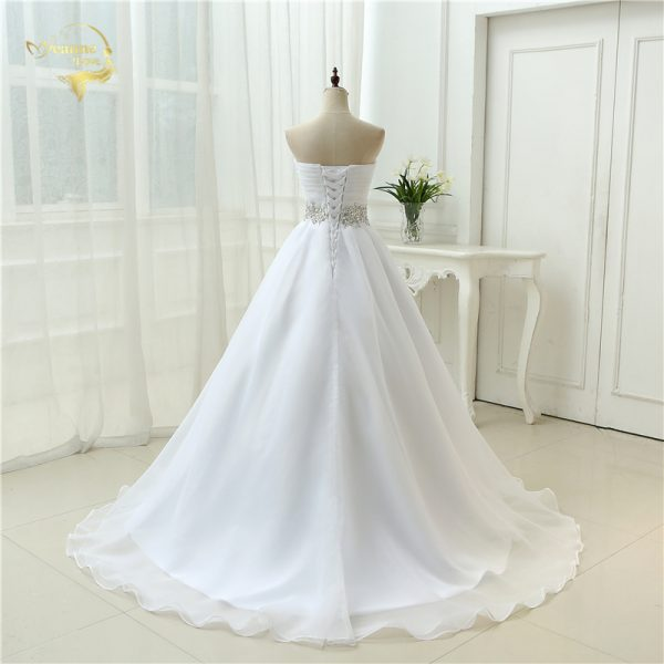 Mariage Strapless Dress Lace Up Wedding Dresses