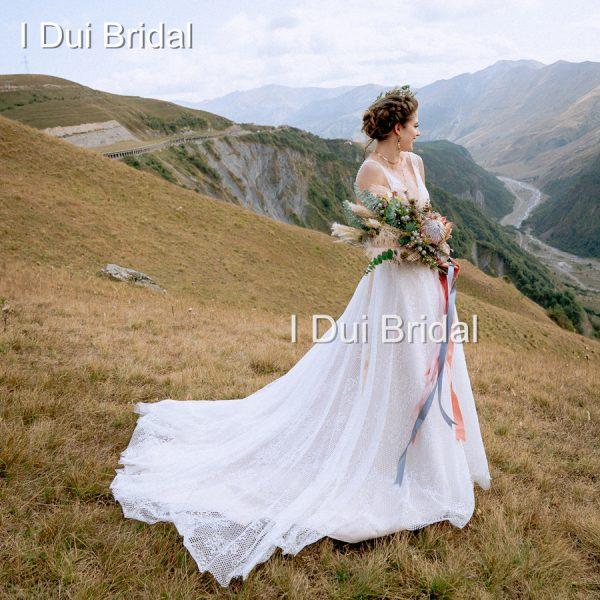 Sexy Wedding Dresses Pearl Crystal Beaded
