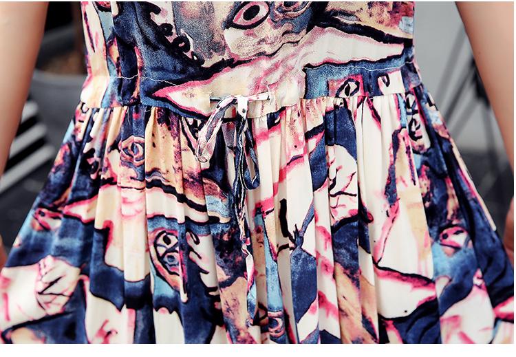 Women Summer Dresses Casual Cotton Line Dress