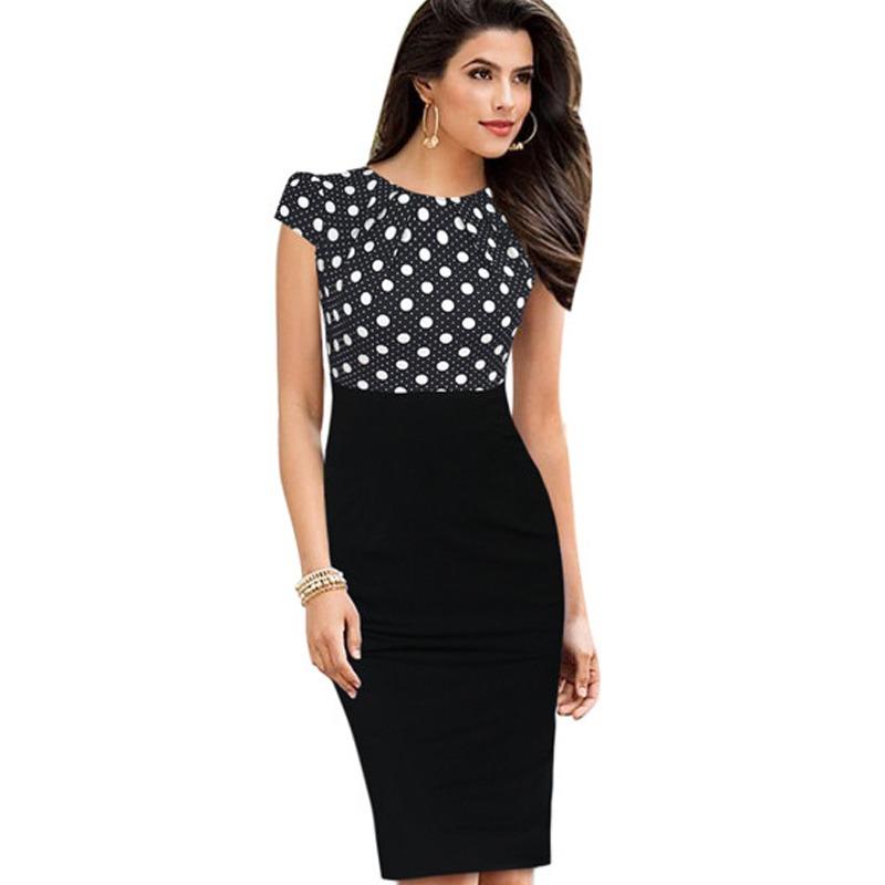 Bodycon Knee Women Office Pencil Dress