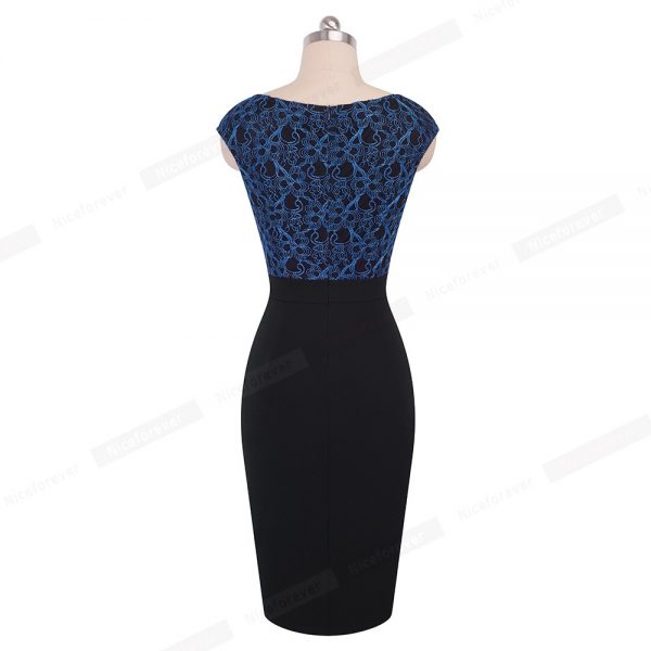 Elegant Floral Mesh Bodycon Sheath Women Dress