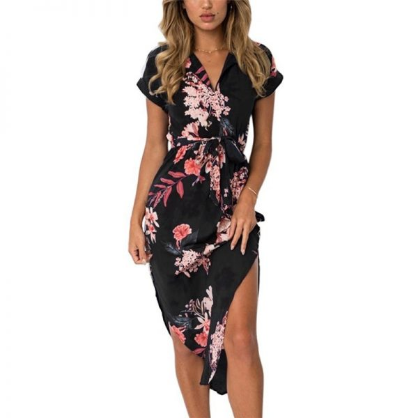 Floral Print Beach Dress Fashion Boho Summer Dresses