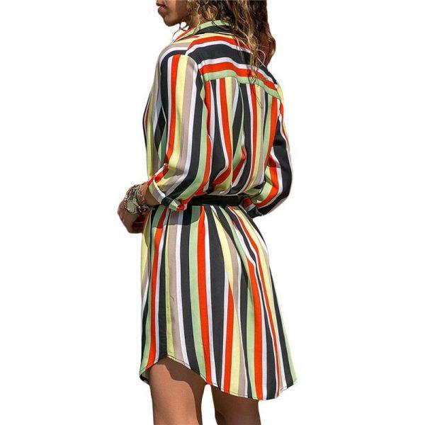 Long Sleeve Shirt Chiffon Boho Beach Dresses