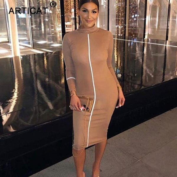 Sexy Bodycon Dress Pencil Dress Skinny Casual Dresses