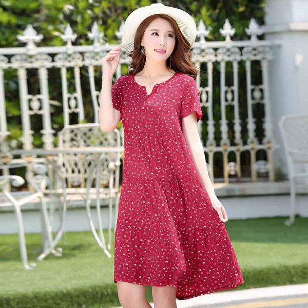 Summer Dot Dress Patchwork Vestidos Dresses