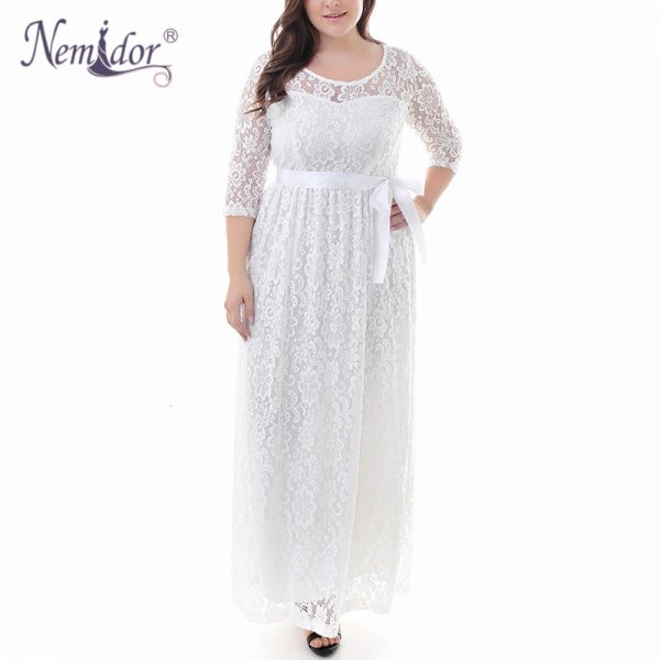 Summer Long Maxi Dress Belted Lace Dress