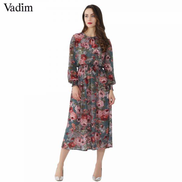 Women Floral Chiffon Dress