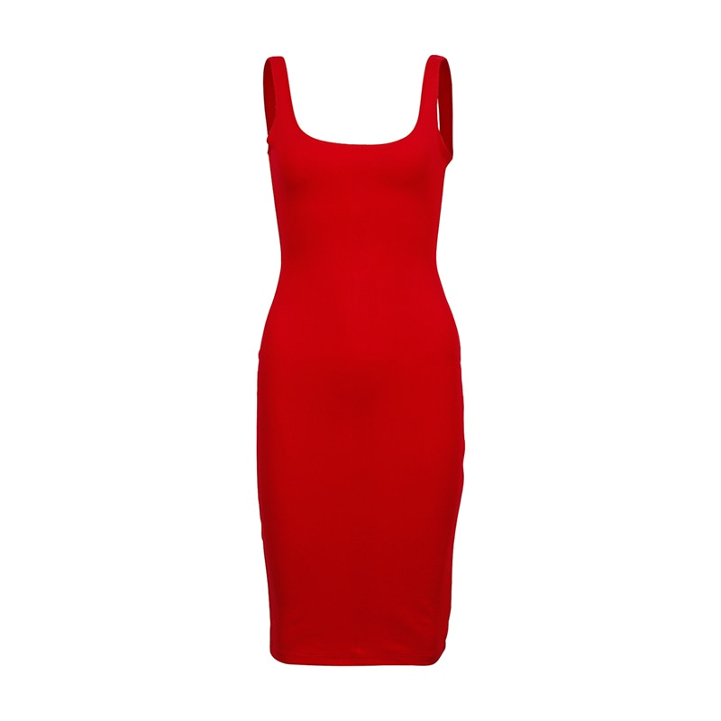 Basic Vest Dress Women Split Dress Party Dresses