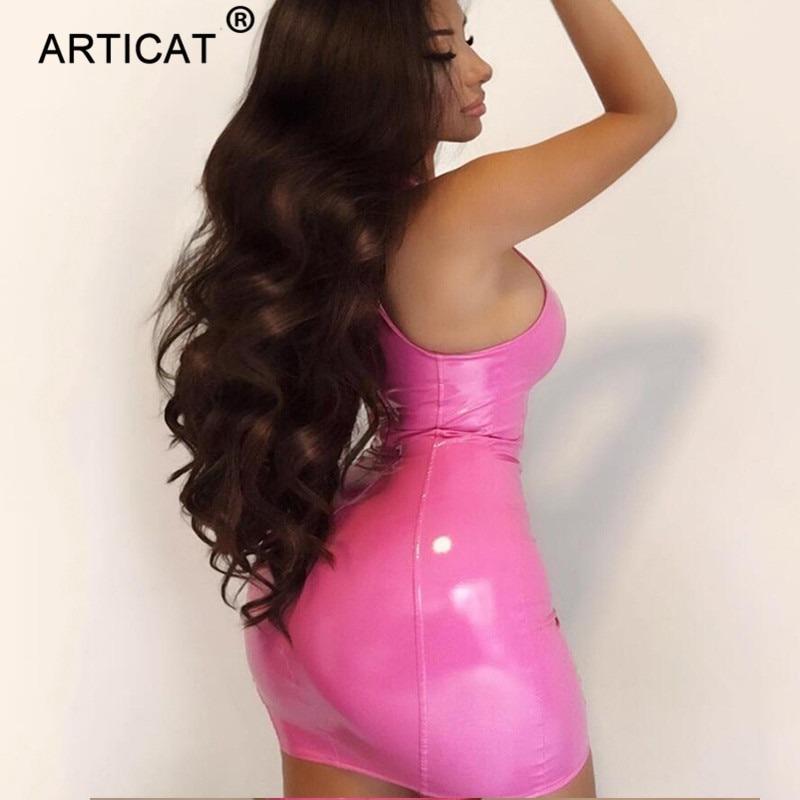 PU Leather Dress Bodycon Sexy Club Dresses