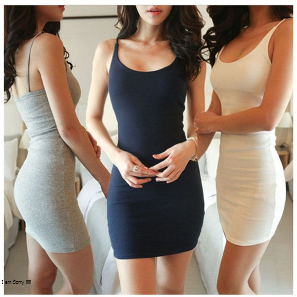 Sexy Backless Basic Dresses Sleeveless Slim Vestidos