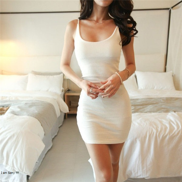 Sexy Backless Basic Dresses Sleeveless Slim Vestidos