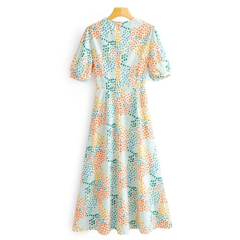Woman O Neck Midi Dress