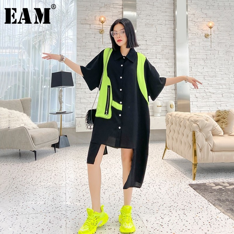 Women Irregular Shirt Dress